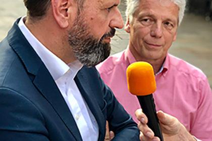 Gefragte Gesprächspartner zum Thema Wolfsmanagement- Niedersachsens Umweltminister Olaf Lies (SPD) und der heimische Landtagsabgeordnete Dr. Frank Schmädeke (CDU)