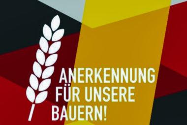 Anerkennung für unsere Bauern!
